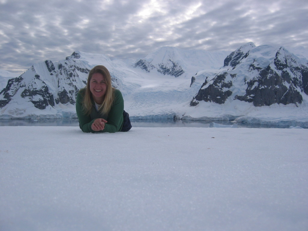 Antartica Day 5 _Laying on top of glacier