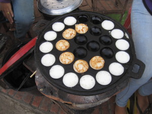 Tasty Coconut milk treats that I did eat.  Made fresh on the street in this little hot pot