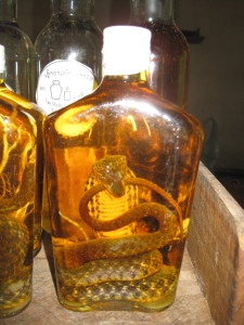 A snake in the whisky