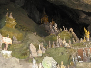 Some of the 4,000 Buddha's in the lower cave