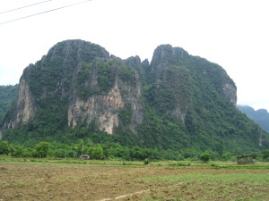 Laos - Vang Vieng bike road mountain