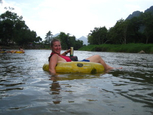 Crusing down the Mekong River with a Beer Lao...so tranquil!
