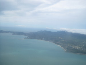 The final picture of Ko Samui as the pilot decided to fly back to Phuket