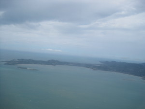 Another view of Ko Samui as we were circling for 10 minutes after first failed landing