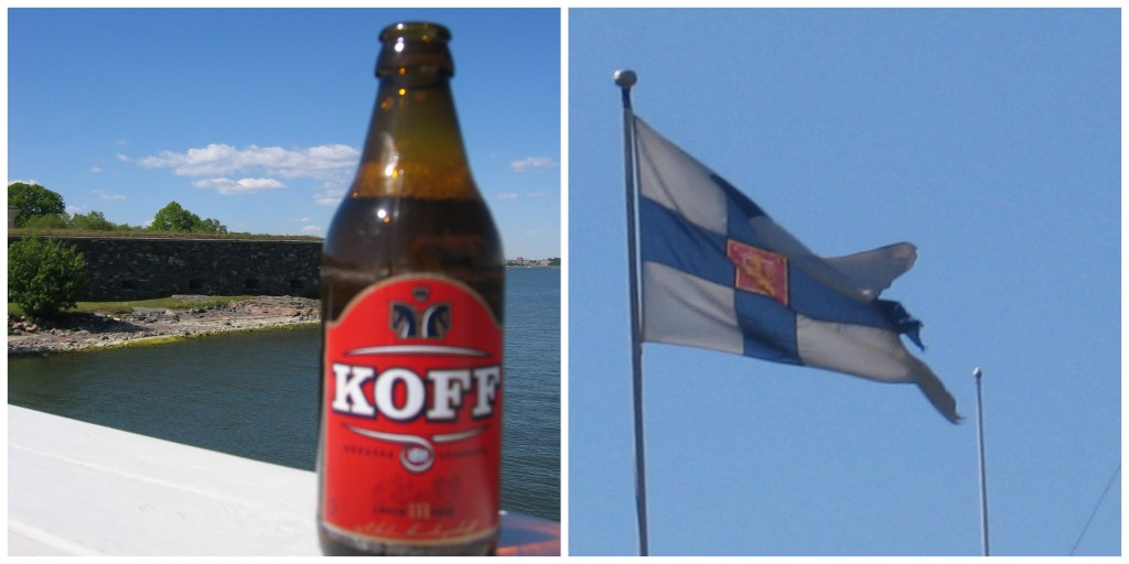Finland's Beer and Flag