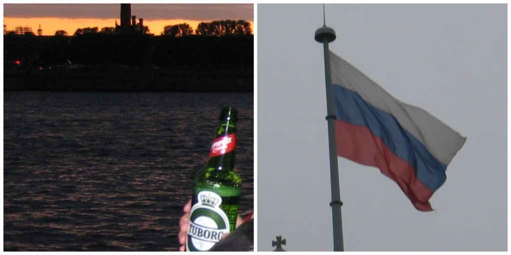 Russia's Beer and Flag