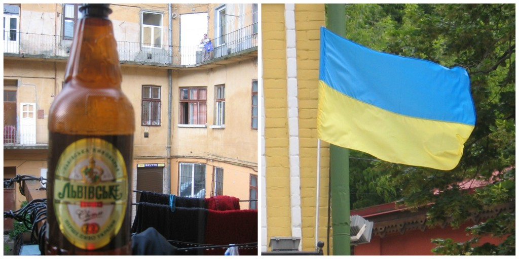 Ukraine's Beer and Flag
