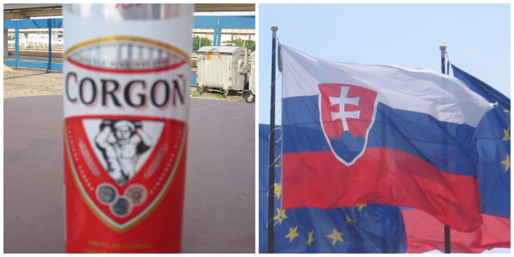 Slovakia's Beer and Flag