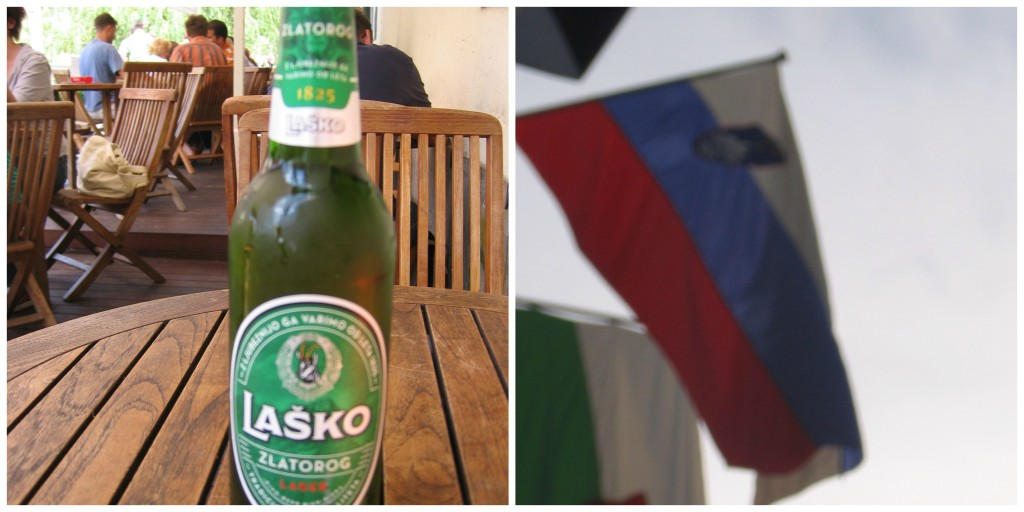 Slovenia's Beer and Flag