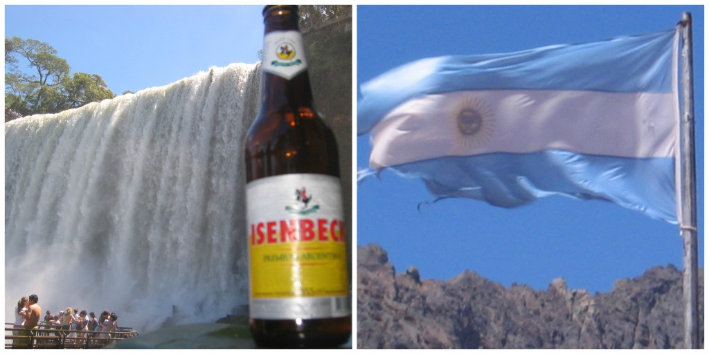 Argentina's Beer and Flag