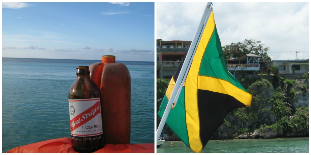 Jamaica's Beer and Flag