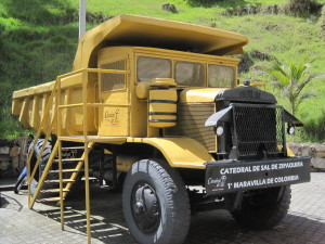 One of the trucks used in the mine