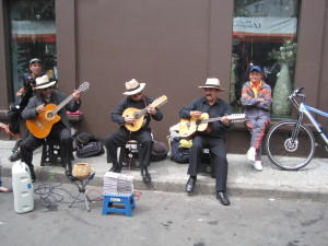 Local musicians in Usaquen