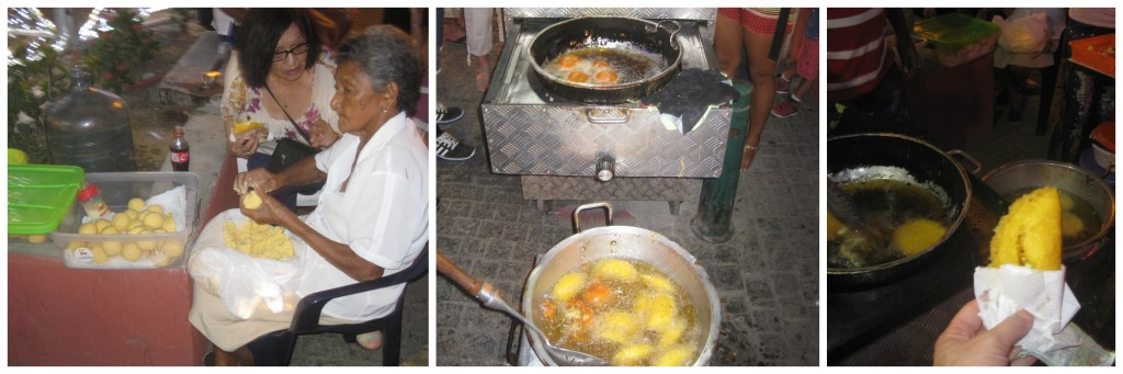 Little grandma making empanadas in one of the plazas.  They were delicious!
