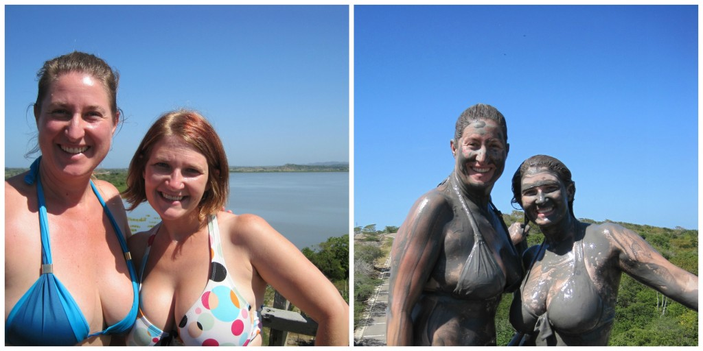 Milena and me before and after the mud