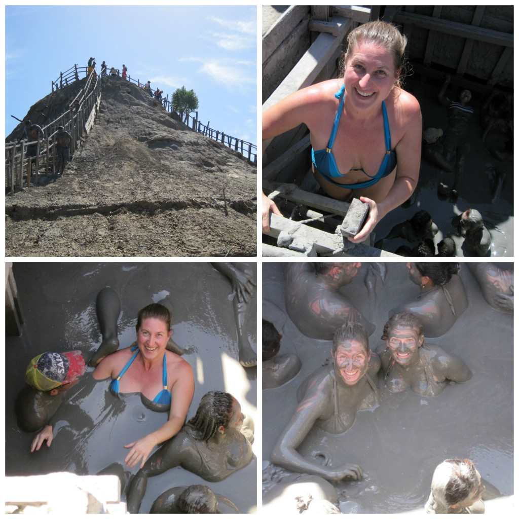 "The Mud volcano, climbing down into the mud, and moving back to the ""mud massage area"".  Good fun!"