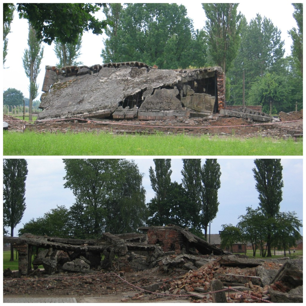 Two of the last crematoriums that were destroyed when the Russians came to liberate the camp