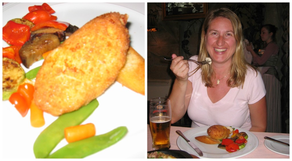 Real Chicken Kiev and the city of Kiev - it was delicious!