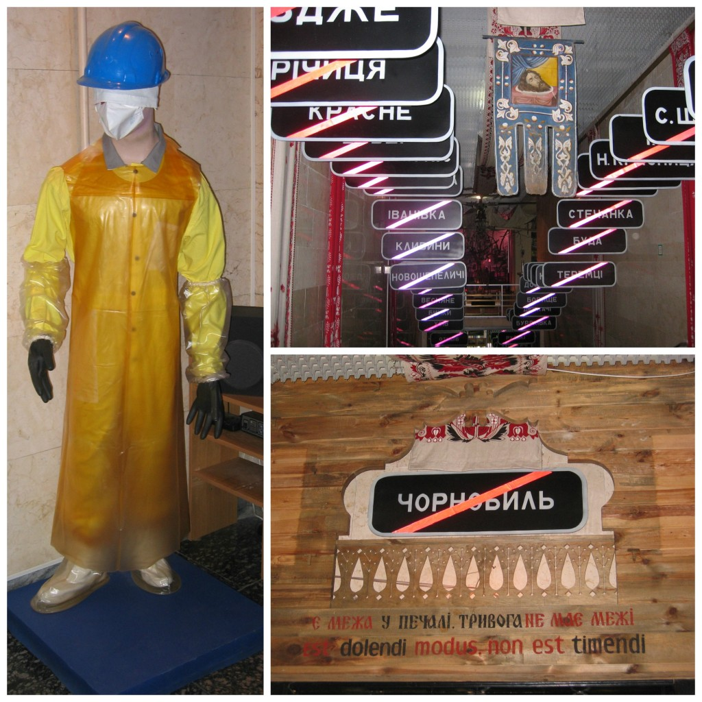 Choronobyl Clean up attire - really no protection at all.  Plus signs