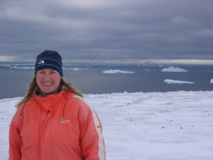 View from top of first day in Antartica