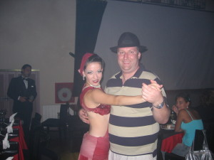 Morgan became part of the Tango Show