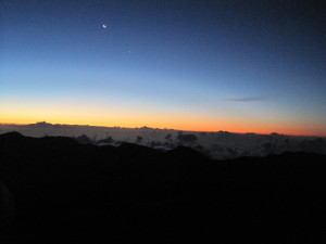 Before Sunrise at Haleakalā Volcano