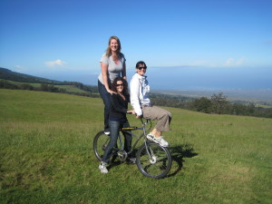 Biking down Haleakalā Volcano with Amanda and Jen