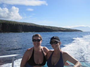Jen and I enjoyed the water on the way out to Scuba and snorkle