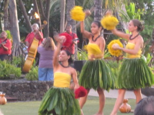 Hula dancing before Maui's Old Lahaina Luau