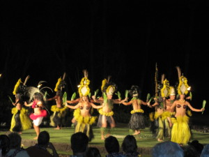Dancing at Maui's Od Lahaina Luau