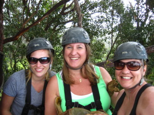 Kimmie, Me and Tiffani out ziplining in 2013