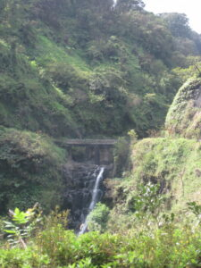 One of many waterfalls along the drive