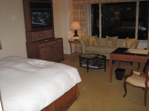 Loved the hotel upgrade to a suite at The Peninsula.  Gotta love the corporate connection!