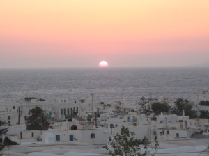 Mykonos sunset almost gone...